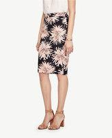 Ann Taylor Chrysanthemum Pencil Skirt