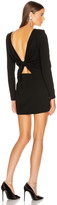 Saint Laurent Long Sleeve Mini Dress in Black   FWRD