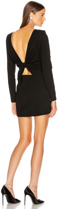 Saint Laurent Long Sleeve Mini Dress in Black | FWRD