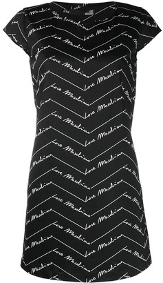 Love Moschino Logo Print Shift Dress