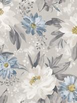 Dahlia Arthouse Painted Wallpaper -Grey