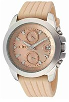 A Line a_line Women's 80010-016-BE Aroha Chronograph Beige Dial Beige Silicone Watch