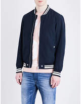 Diesel J-radical Striped-detail Bomber Jacket