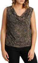 Cowl Neck Jersey Top Print