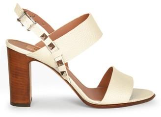 Valentino Rockstud Double Slingback Leather Sandals