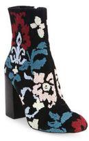 Rebecca Minkoff Bojana Embroidered Suede Block-Heel Booties