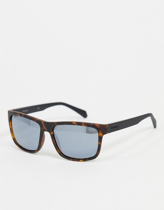 Polaroid Polariod square sunglasses in tortoise shell