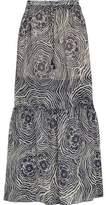 See by Chloe Floral-Print Silk-Chiffon Maxi Skirt