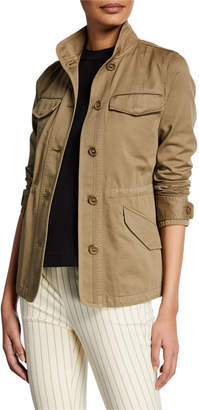 Rag & Bone Daniella Washed Button-Front Utility Jacket
