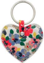 Cath Kidston Painted Pansies Heart Key Fob