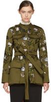 Erdem Green Battista Military Coat