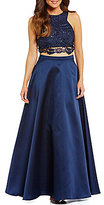 B. Darlin Lace Top Two-Piece Ball Gown