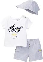 Absorba Top, Short, & Hat Set (Baby Boys)
