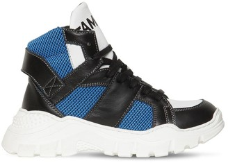 Am 66 Leather & Mesh High Top Sneakers