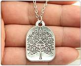 Nobrand No brand silver tone 31*22mm one sided tree pendant necklace