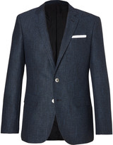 HUGO BOSS Blue Hutsons Slim-Fit Woven Blazer
