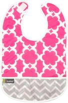 Kushies Cleanbib 12M+ Girl Fuchsia Modern Flowers