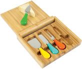 Picnic Time Carnaval Bamboo Cheeseboard with Tools