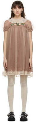 Gucci Brown Silk Babydoll Dress