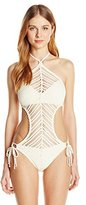 Robin Piccone Women's Sophia Crochet Monokini One Piece Swimsuit