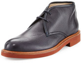 Ermenegildo Zegna Deerskin Leather Chukka Boot, Navy