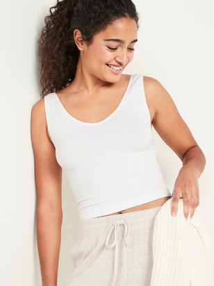 Old Navy Seamless Rib-Knit V-Neck Tank Top for Women