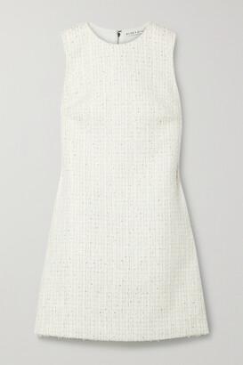 Alice + Olivia Coley Metallic Tweed Mini Dress