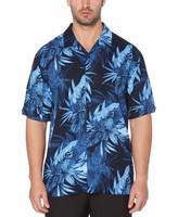 Cubavera Big & Tall Exploded Tropical Camp Collar Shirt