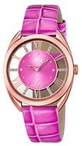 Lotus Women's Quartz Watch with Pink Dial Analogue Display and Pink Leather Strap 18226/1