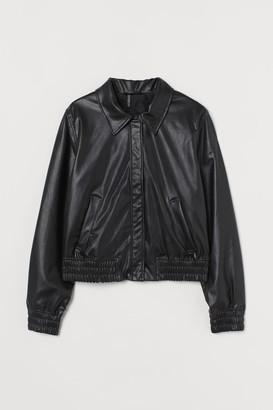 H&M Faux Leather Jacket - Black