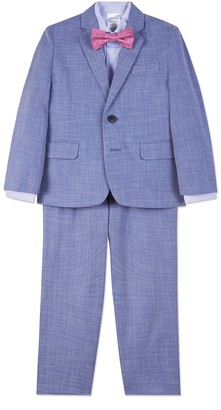 Calvin Klein Bold Dobby Suit Set (Toddler & Little Boys)