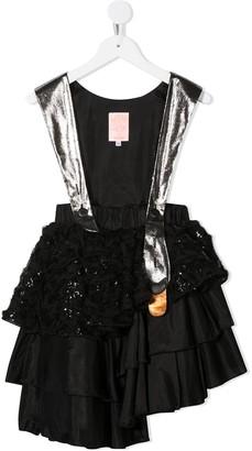 Wauw Capow By Bangbang Metallic Ruffle Party Dress
