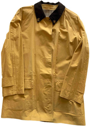 Hermes Yellow Cotton Trench coats