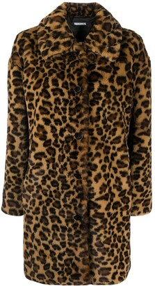 P.A.R.O.S.H. Leopard-Print Single Breasted Coat