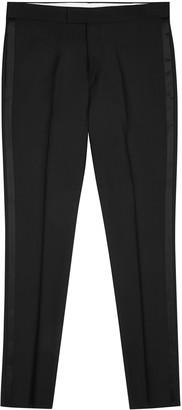 Paul Smith Black wool-blend tuxedo trousers