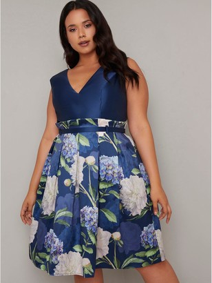 Chi Chi London Curve Llona Dress - Navy