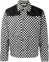 Givenchy checkered bomber jacket - men - Polyamide/Viscose/Wool - 48