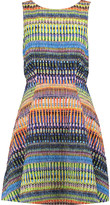 Saloni Jess printed cloqué mini dress
