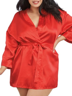 Dreamgirl Plus Size Robe and Chemise Set