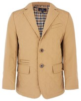 Aquascutum London Beige Quilted Nylon Blazer