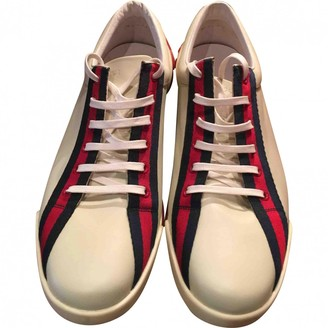 Gucci Ace White Patent leather Trainers