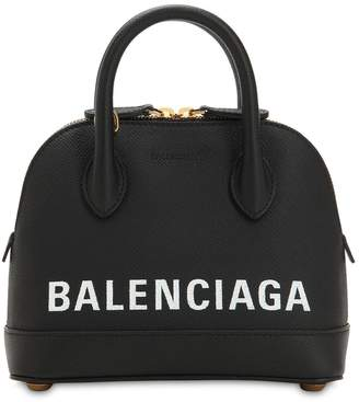 Balenciaga XXS VILLE LEATHER TOP HANDLE BAG