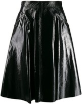 Drome A-line leather skirt