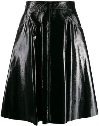 Drome A-line leather skirt