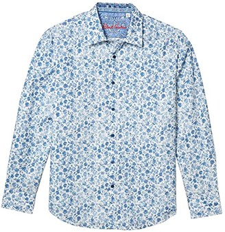 Robert Graham Edeweiss Button-Up Shirt (White) Men's Clothing