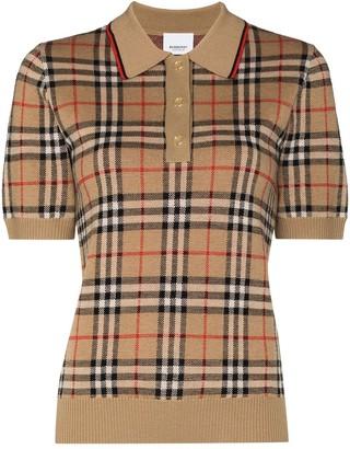 Burberry Vintage check jacquard polo shirt