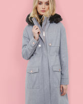 EGGLE Hooded wool parka coat