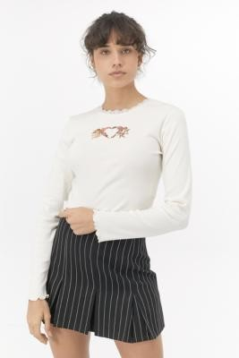 Urban Outfitters Cherub Lace Trim Top - white S at