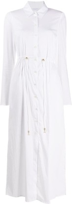 Patrizia Pepe Drawstring-Waist Shirt Dress