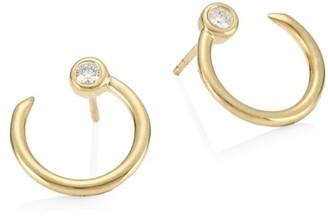 Sydney Evan 14K Yellow Gold Diamond Nail Head Earrings
